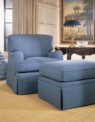 Henredon Living Room Fireside Ottoman H1700 O   Stacy Furniture    Grapevine, Allen, Plano And Flower Mound, Texas
