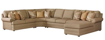 Henredon Living Room Fireside Sectional H2000-Sectional - Ennis Fine Furniture - Boise, ID, Reno ...