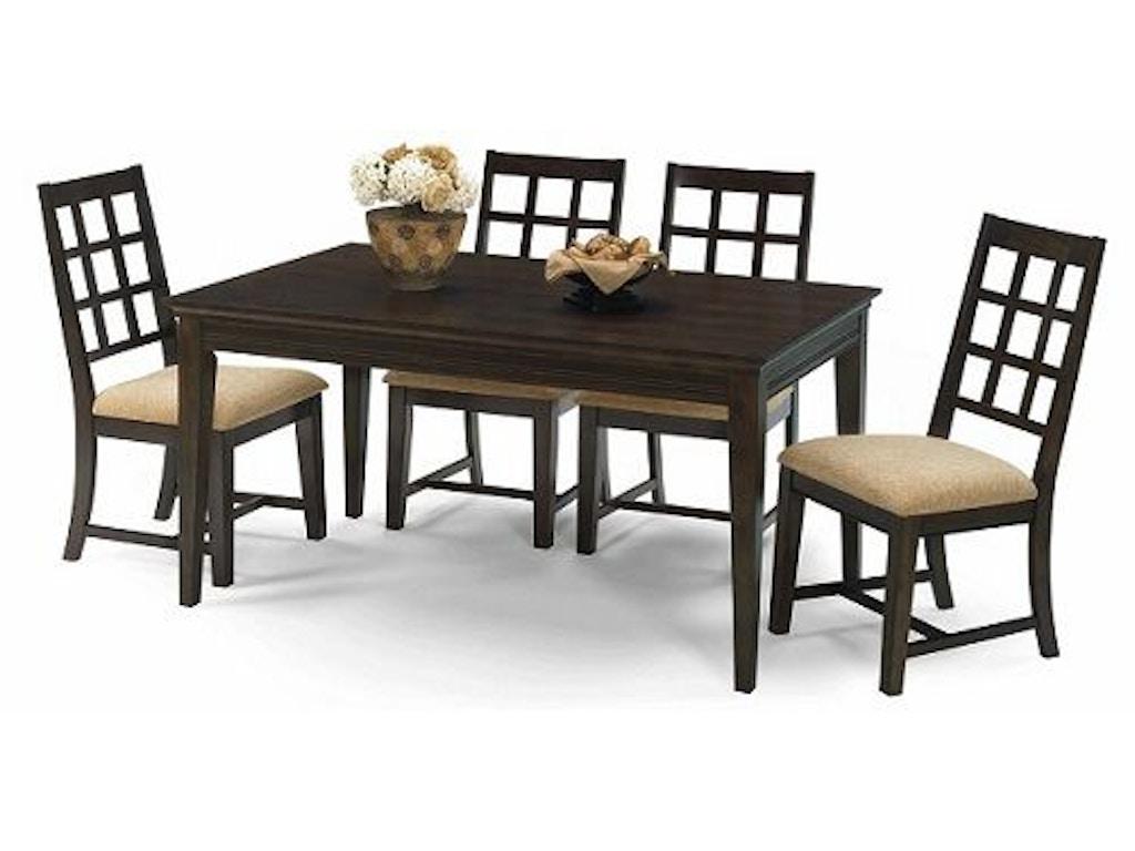 Progressive Furniture Dining Room Rectangular Dining Table P107 10 Winner Furniture