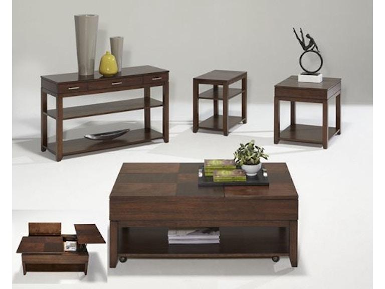 Progressive Furniture Living Room Double Lift Top Cocktail Table P531 25 Bo