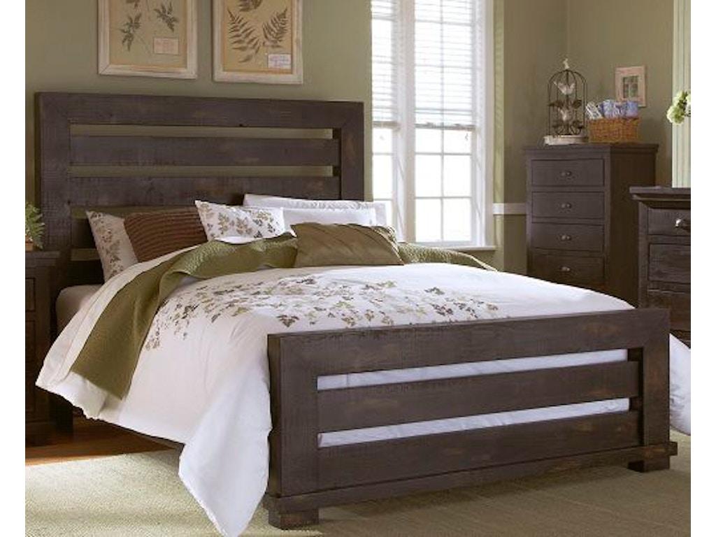 Progressive furniture bedroom queen slat headboard p612 60 for Bedroom furniture hickory nc