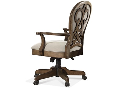 Riverside Scroll Back Upholstered Desk Chair 15839