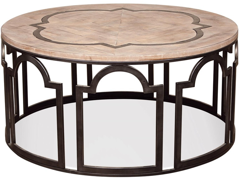 Riverside Living Room Round Coffee Table Stacy Furniture - Grapevine coffee table