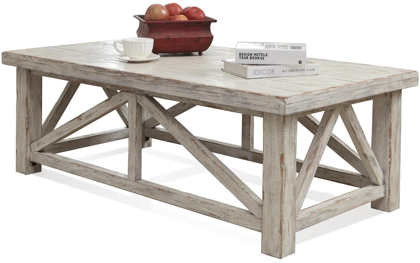 riverside living room coffee table 21202 - andrews furniture