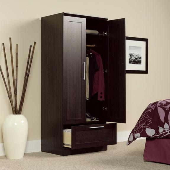 Sauder Home Office Wardrobe/Storage Cabinet 411312 - Crown ...