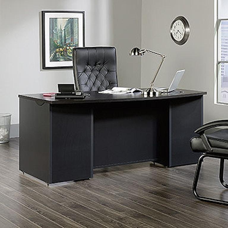 heritage cherry office of sauder classic walmart size medium desk good workstation hill executive throughout