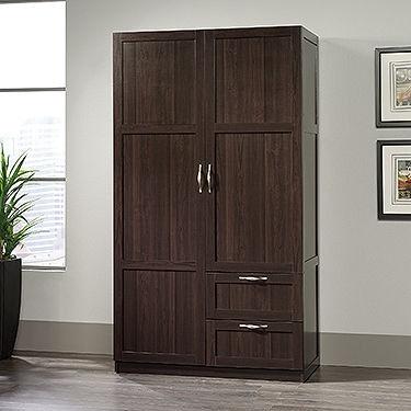 Sauder Home Office Wardrobe/Storage Cabinet 420055 - Crown ...