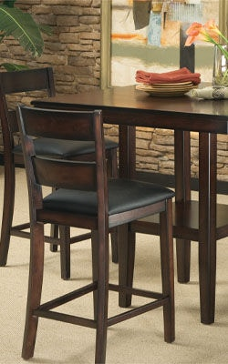 standard furniture dining room counter height table with 4