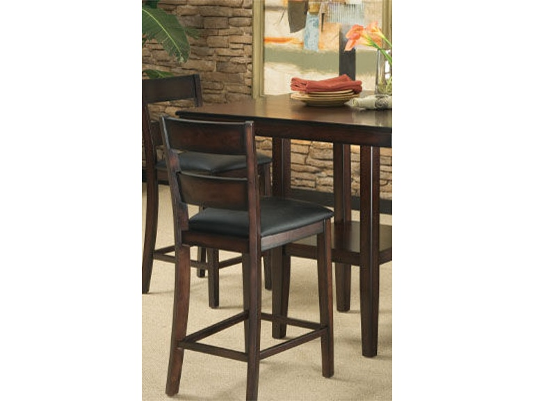standard furniture dining room counter height table with 4 stools