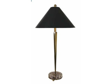 Stylecraft Lamps Accent Lamp and Shade BP4794 BRASS/MARBLE