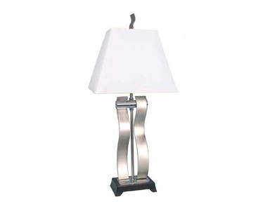 Stylecraft Lamps Table Lamp and Shade 28 inch PT4071 BRUSHED STEEL