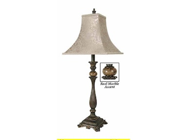 Stylecraft Lamps Table Lamp and Shade 31 inch PT8315 SABLE