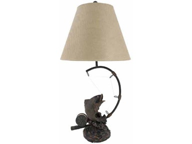 Stylecraft Lamps Table Lamp and Shade 30 inch TR1030 FISH
