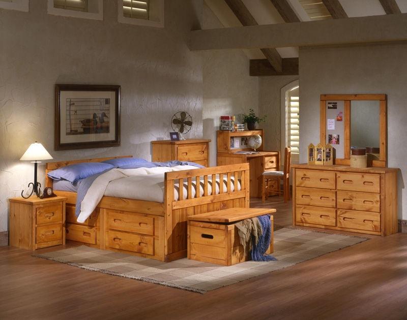 trendwood bay view captains bed full ends