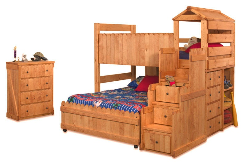 Trendwood Youth Bedroom Fort Loft Chest Bookcase End 4271 Valley Furniture Company Havre Mt