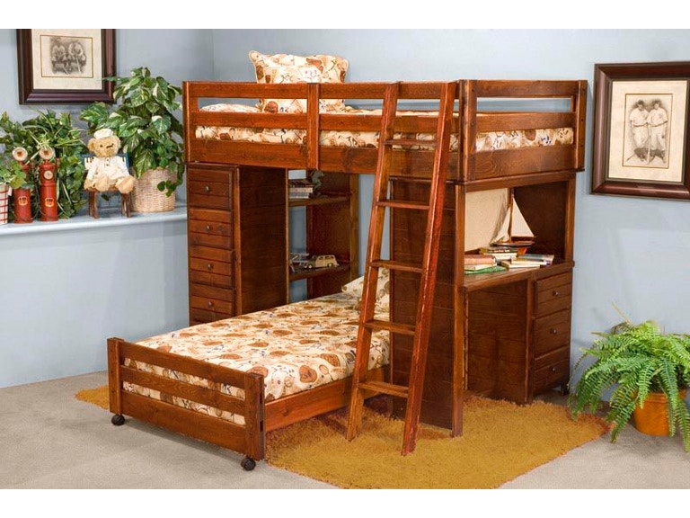 Trendwood Youth Bronco Loft Top Bed Frame 4796 Seiferts Furniture