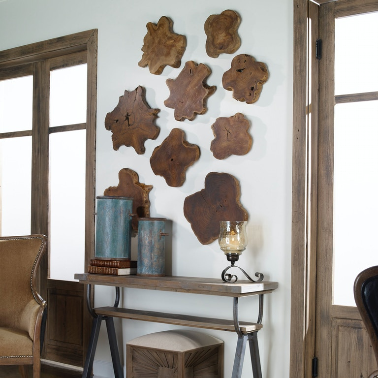 Uttermost Accessories Kalani Teak Wall Art Set/3 4085 - Matter ...