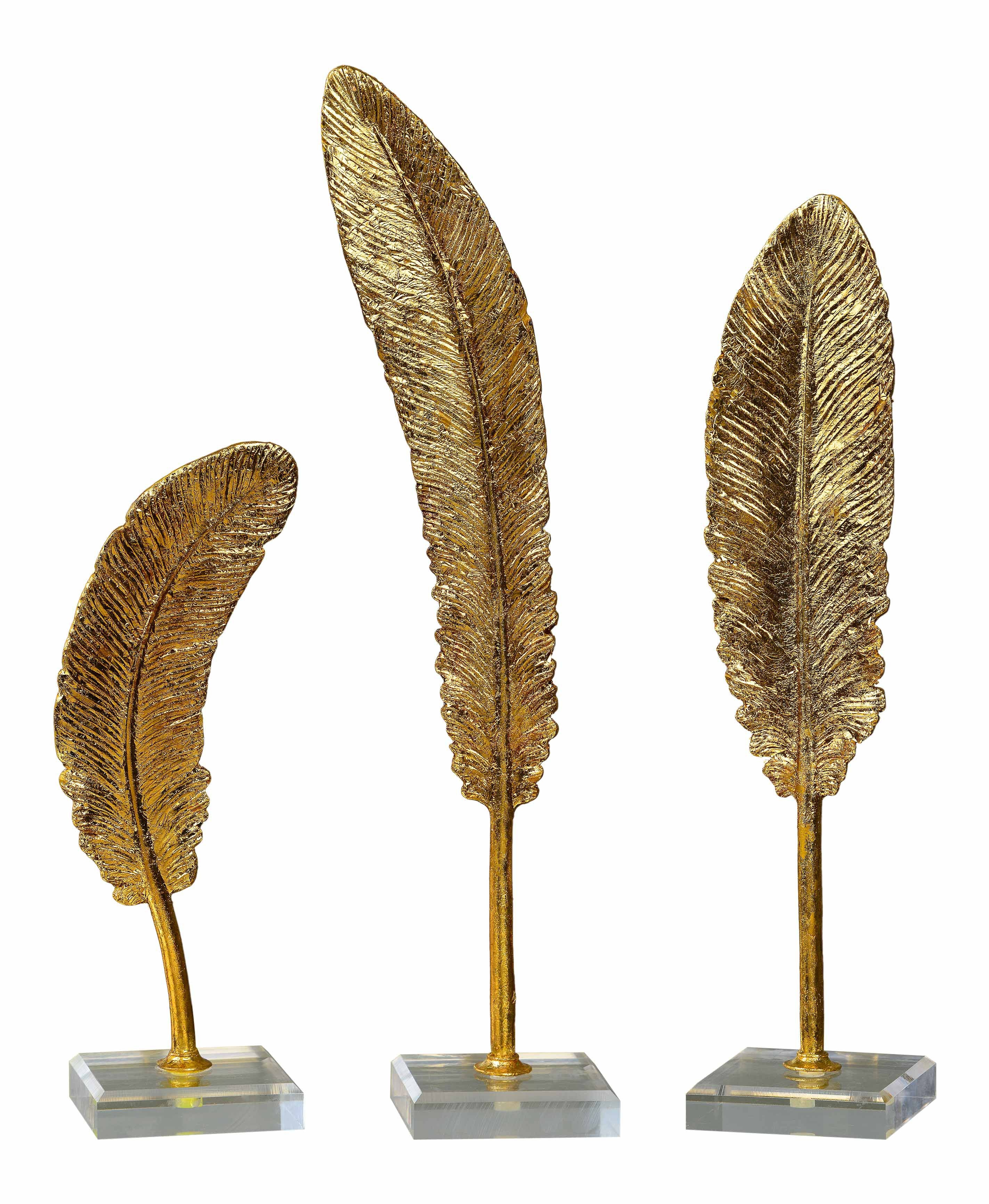 Uttermost Feathers Gold Sculpture S/3 20079