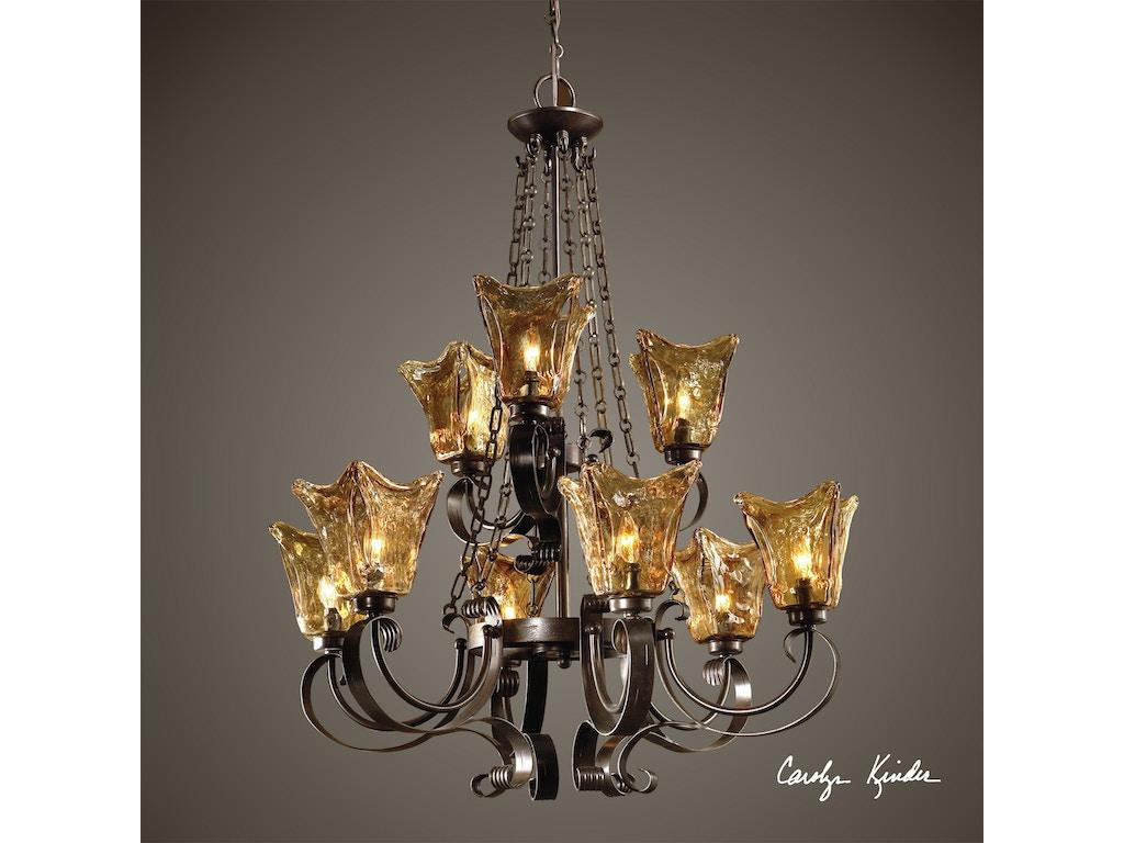 Kichler Barrington 3 Light 22 In Cylinder Vanity Light At: Uttermost Lamps And Lighting Vetraio 9Lt Oil Rubbed Bronze