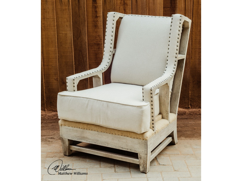 Uttermost Living Room Schafer Linen Armchair 23615