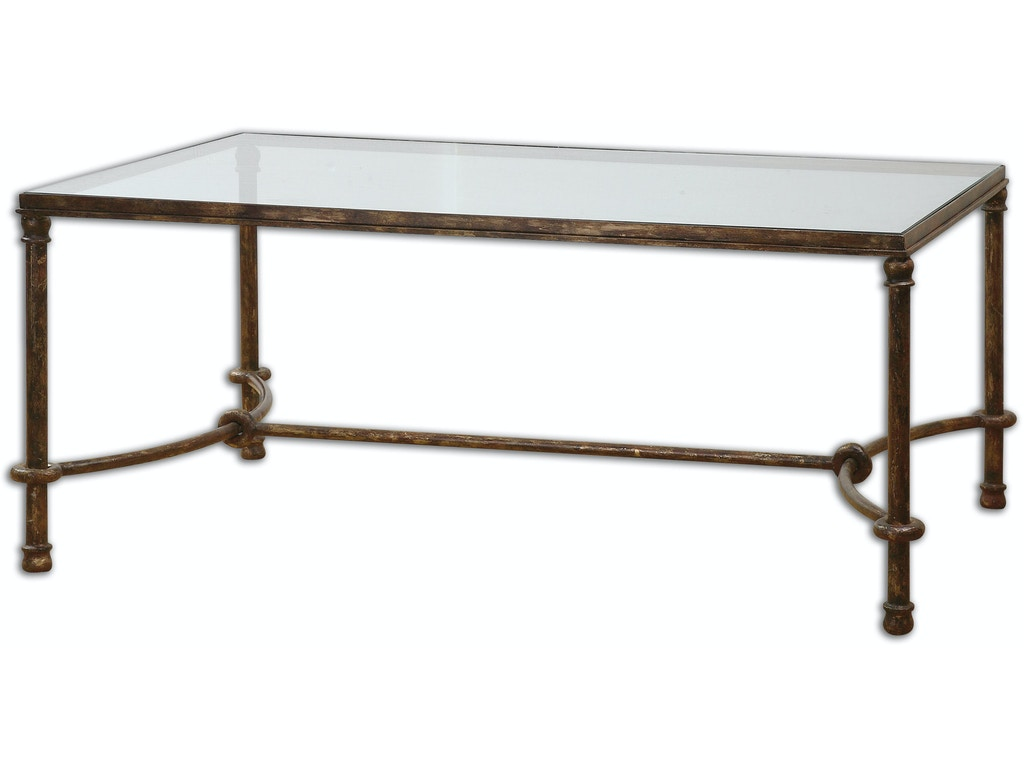 Uttermost living room warring iron coffee table 24333 - Norris furniture interiors fort myers fl ...