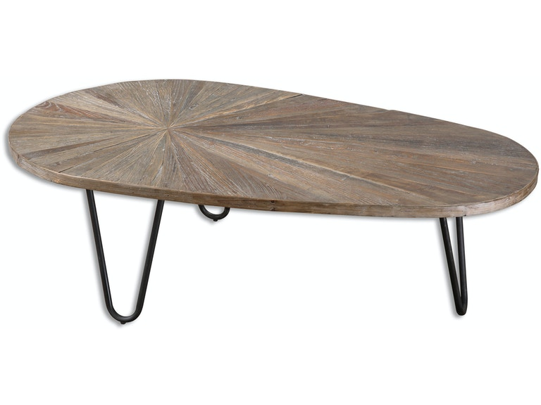 Uttermost living room leveni wooden coffee table 24459 for Coffee tables ottawa