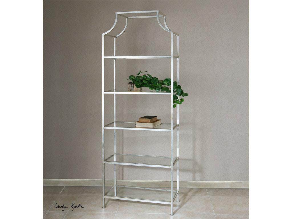 uttermost living room aurelie silver etagere 24514. Black Bedroom Furniture Sets. Home Design Ideas