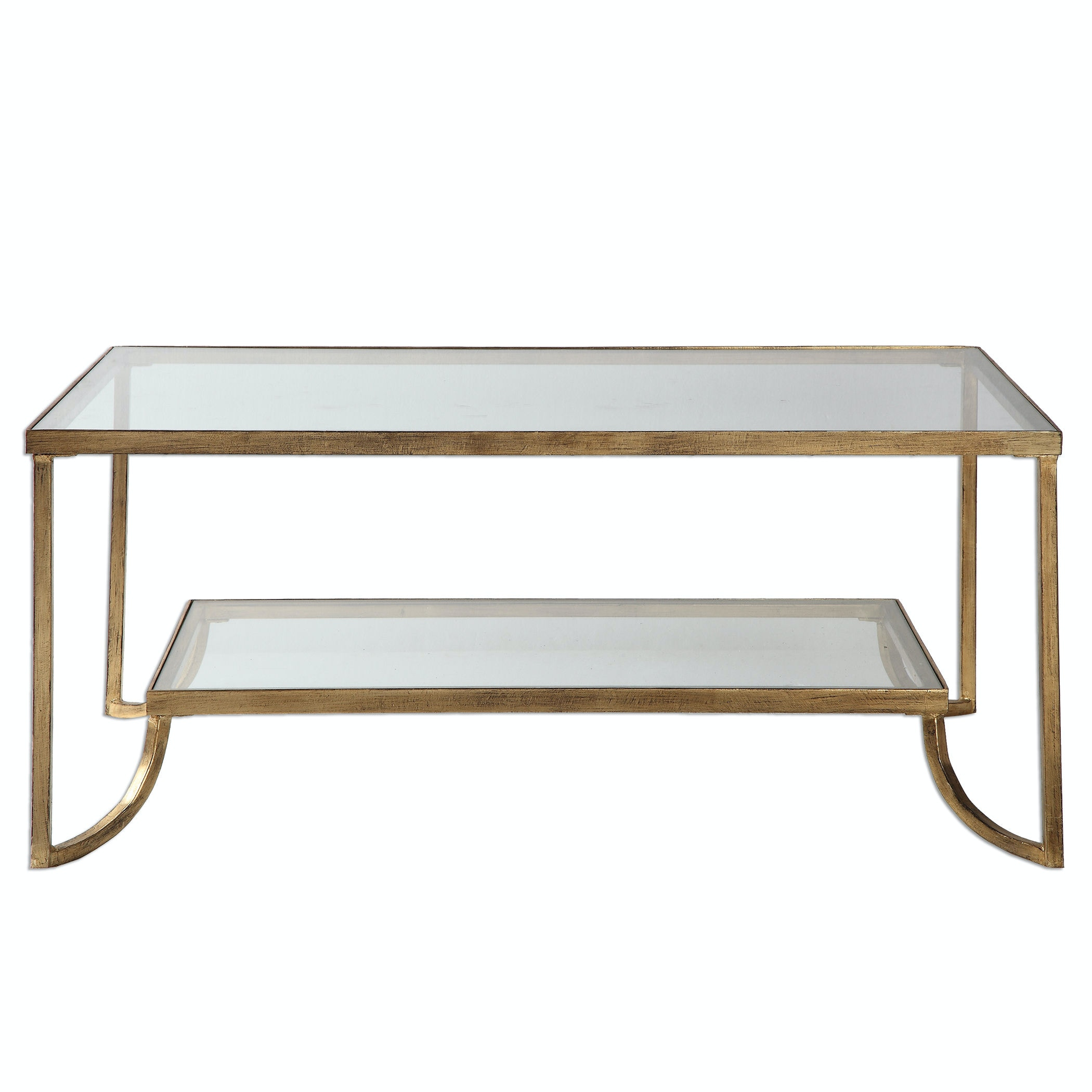 Uttermost Katina Gold Leaf Coffee Table 24540