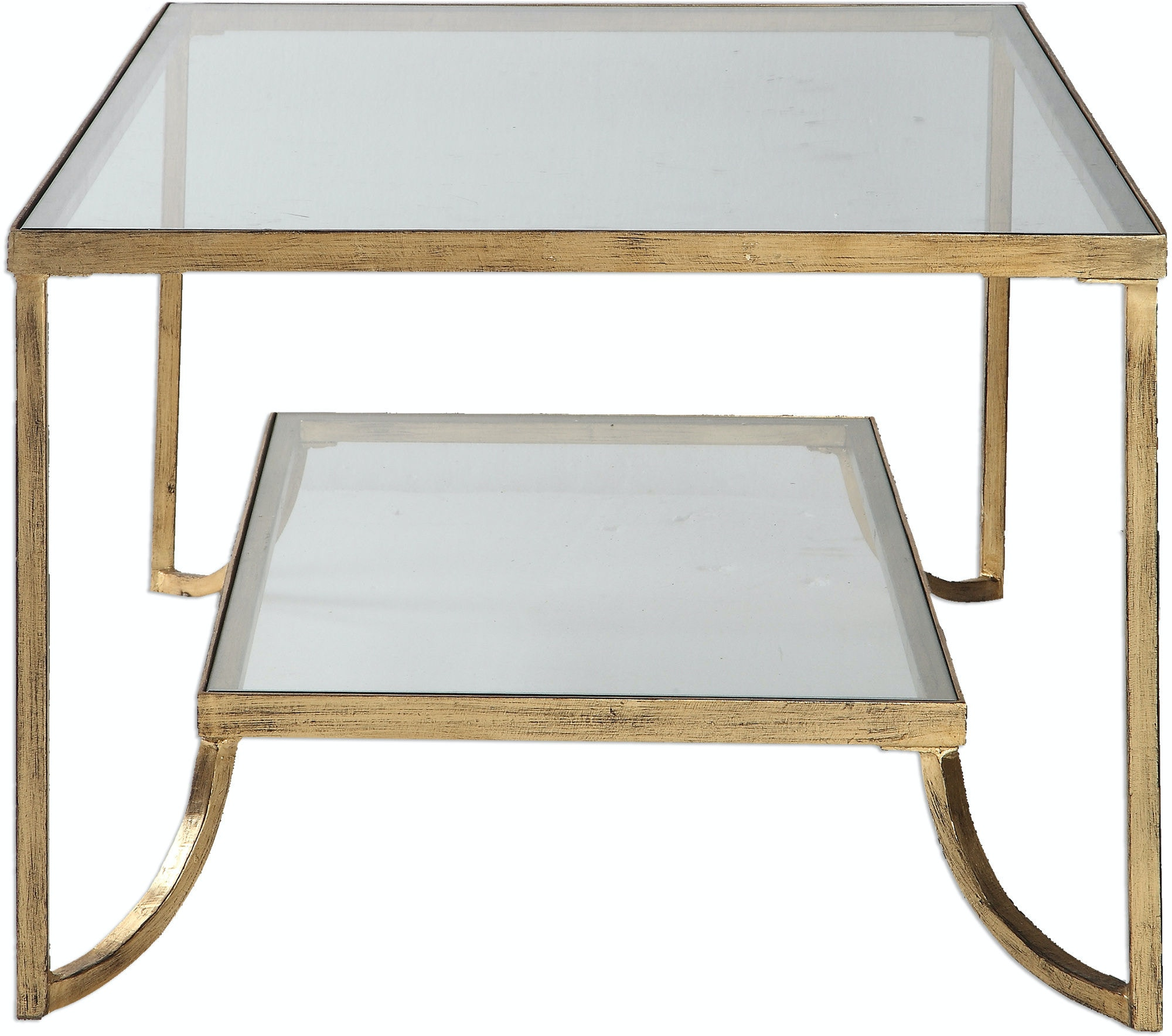 uttermost living room katina gold leaf coffee table 24540 - bears