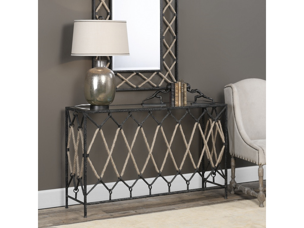 Uttermost living room darya nautical console table 24665 uttermost darya nautical console table 24665 geotapseo Images