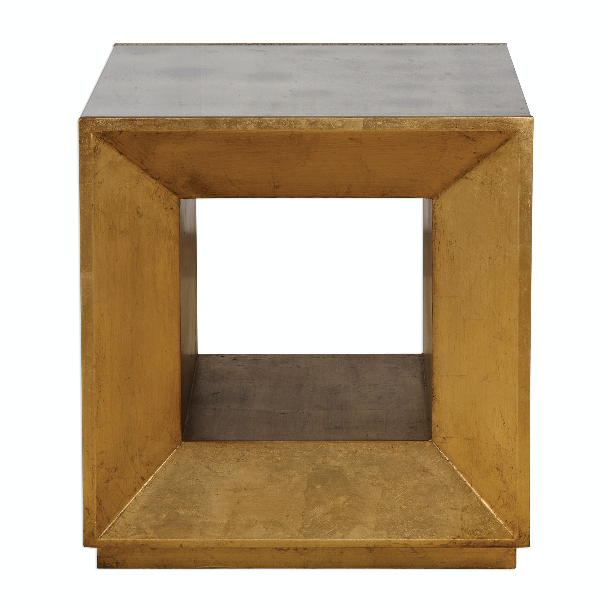 Uttermost Flair Gold Cube Table 24763