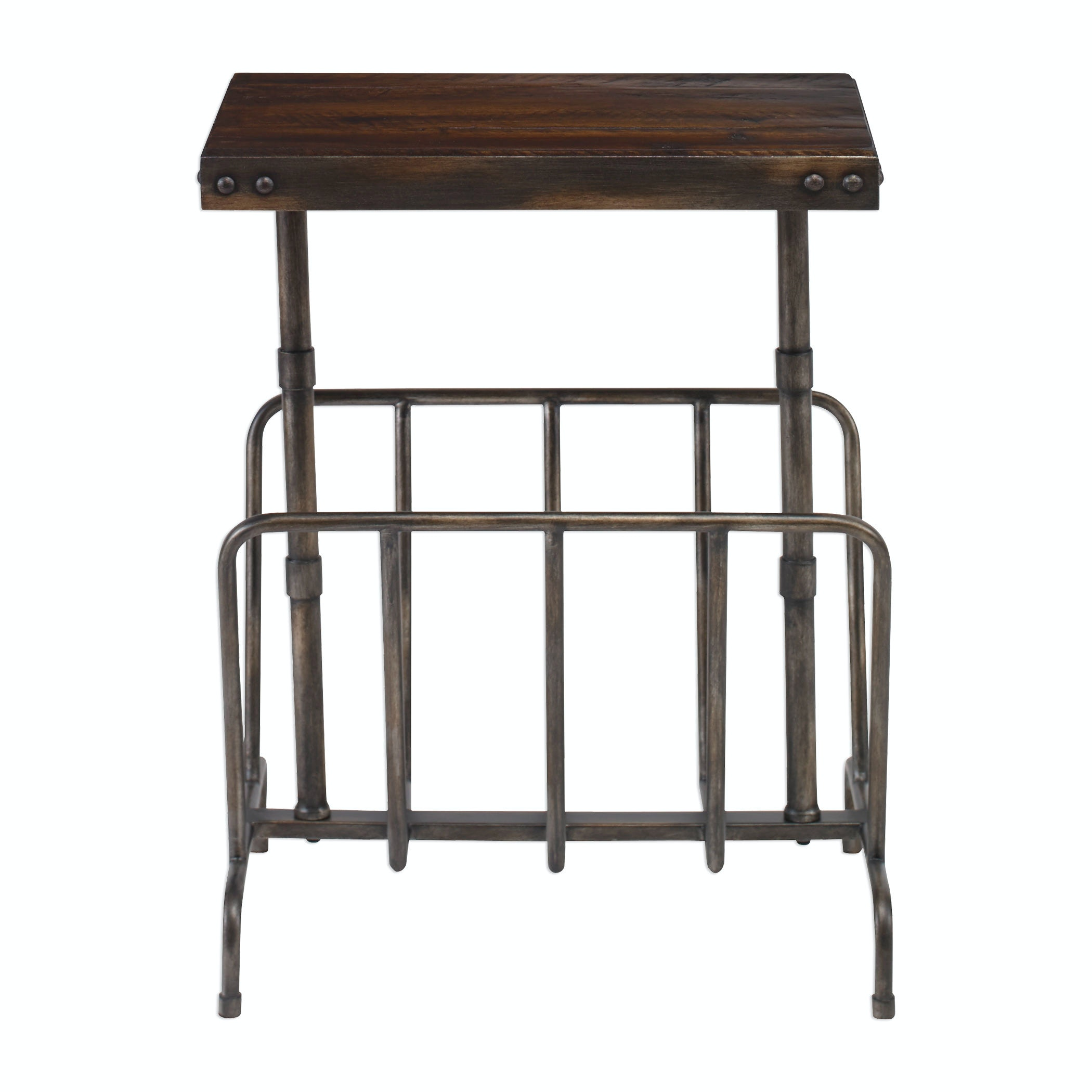 Uttermost Sonora Industrial Magazine Side Table 25326