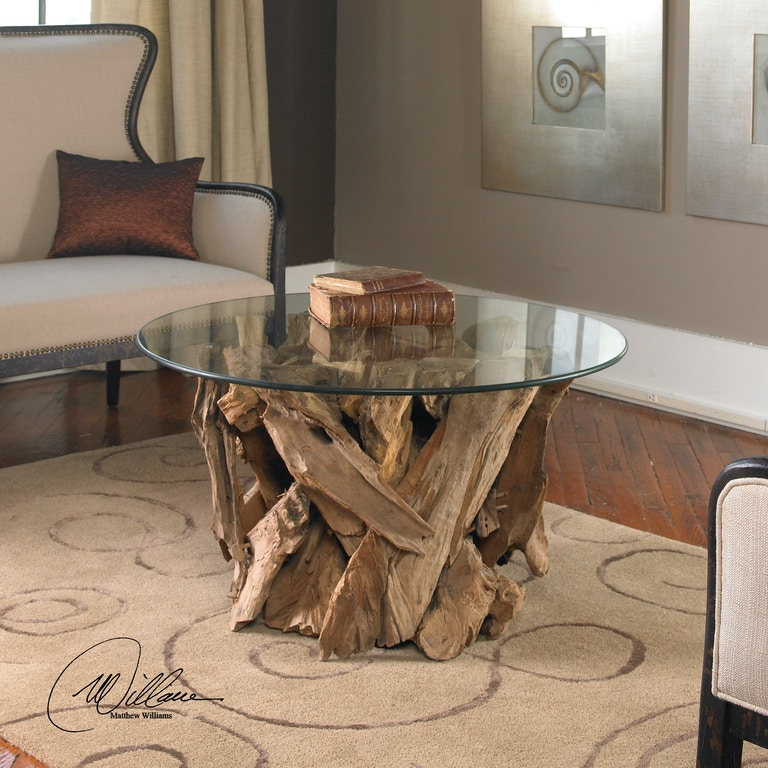 Uttermost Living Room Driftwood Glass Top Cocktail Table - Uttermost driftwood coffee table