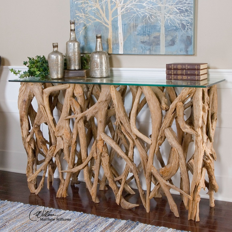Uttermost Living Room Teak Wood Console Matter Brothers - Uttermost driftwood cocktail table