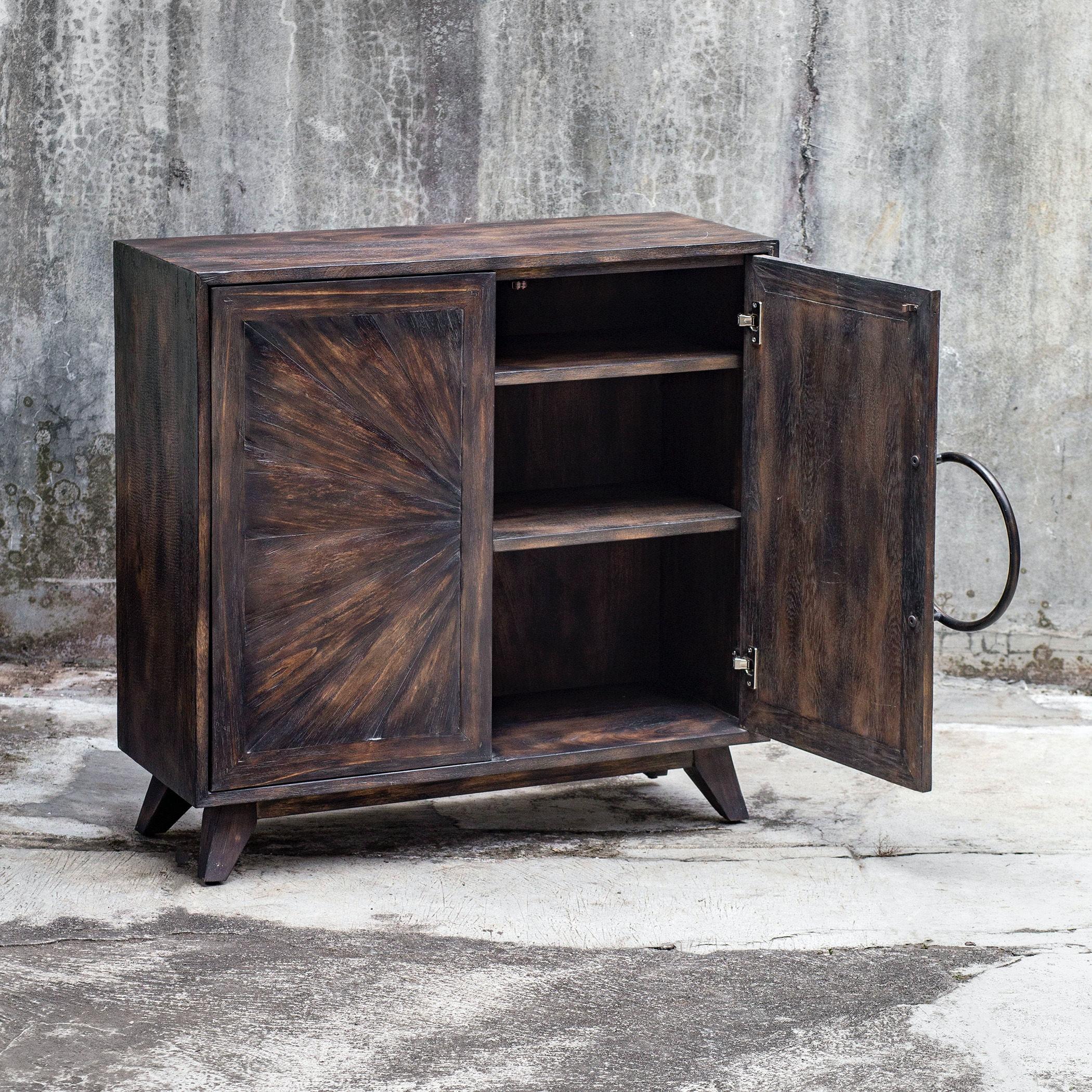 Uttermost Kohana Black Console Cabinet 25842