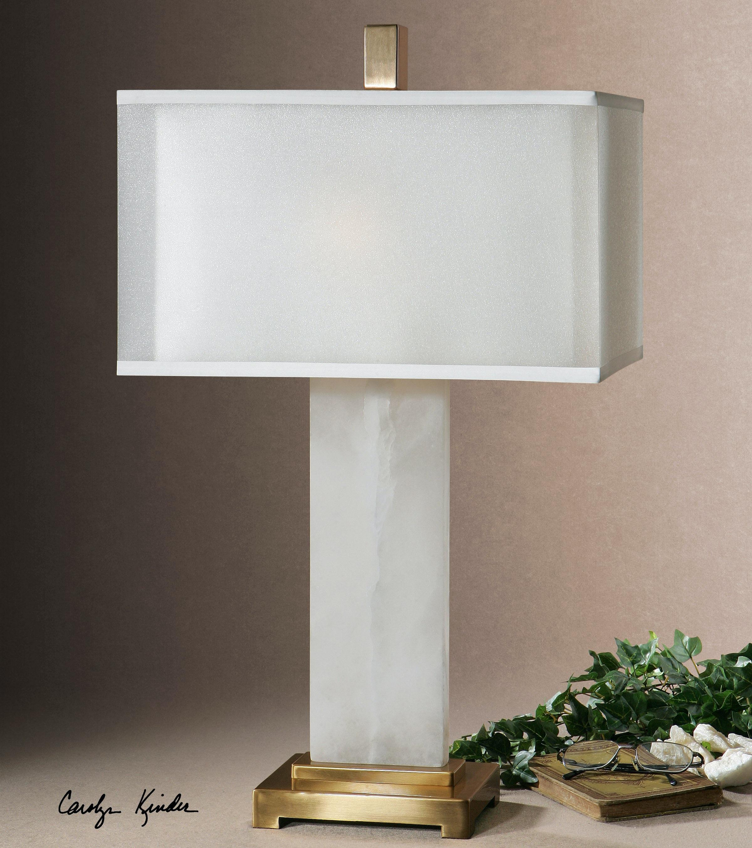 Uttermost Athanas Alabaster Lamp 26136 1