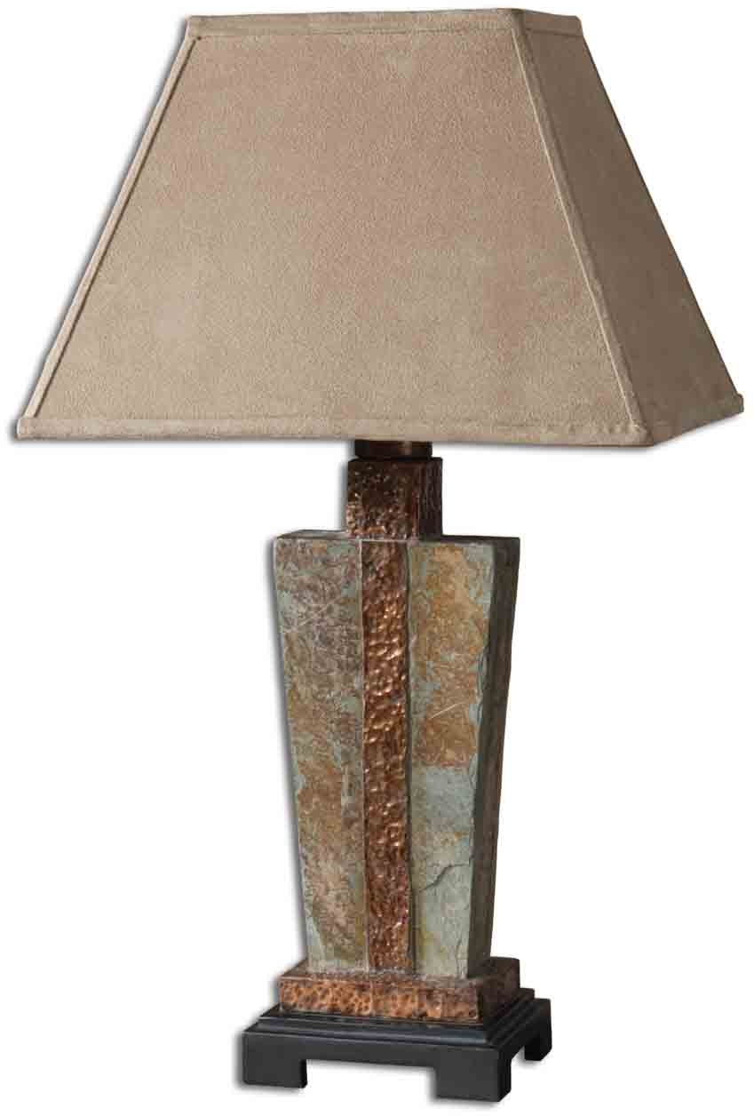 Uttermost slate accent lamp 26322 1