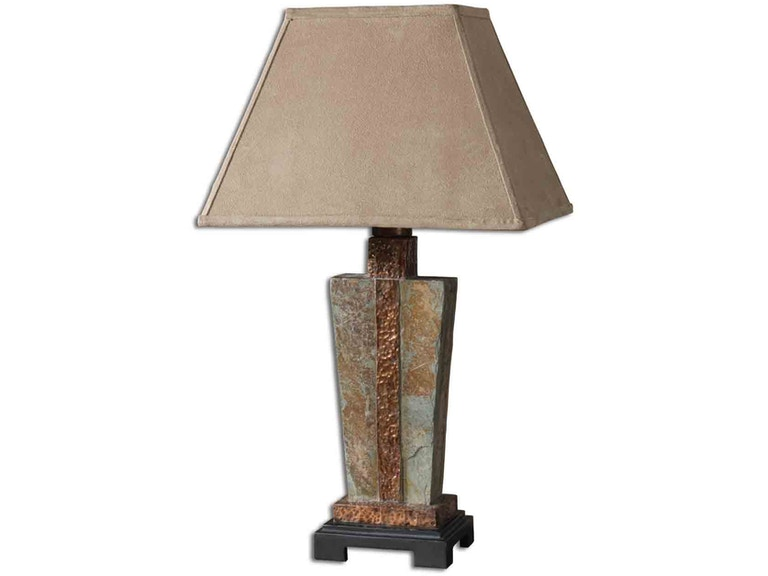 Uttermost slate accent lamp 26322 1
