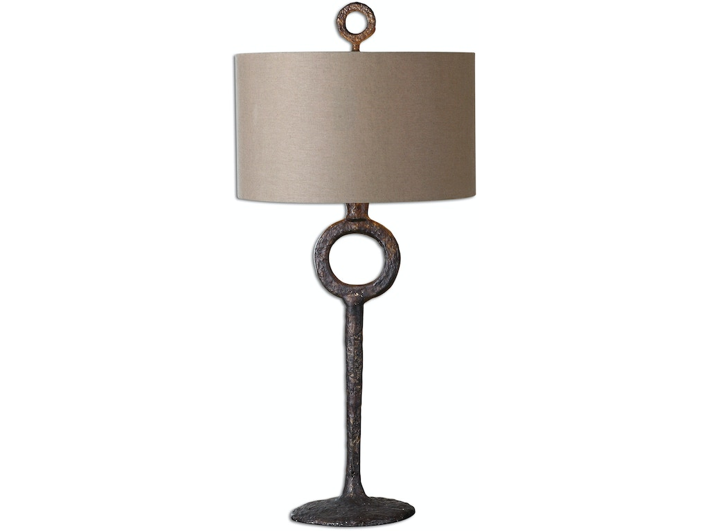 Uttermost lamps and lighting ferro cast iron table lamp for Key west style lighting