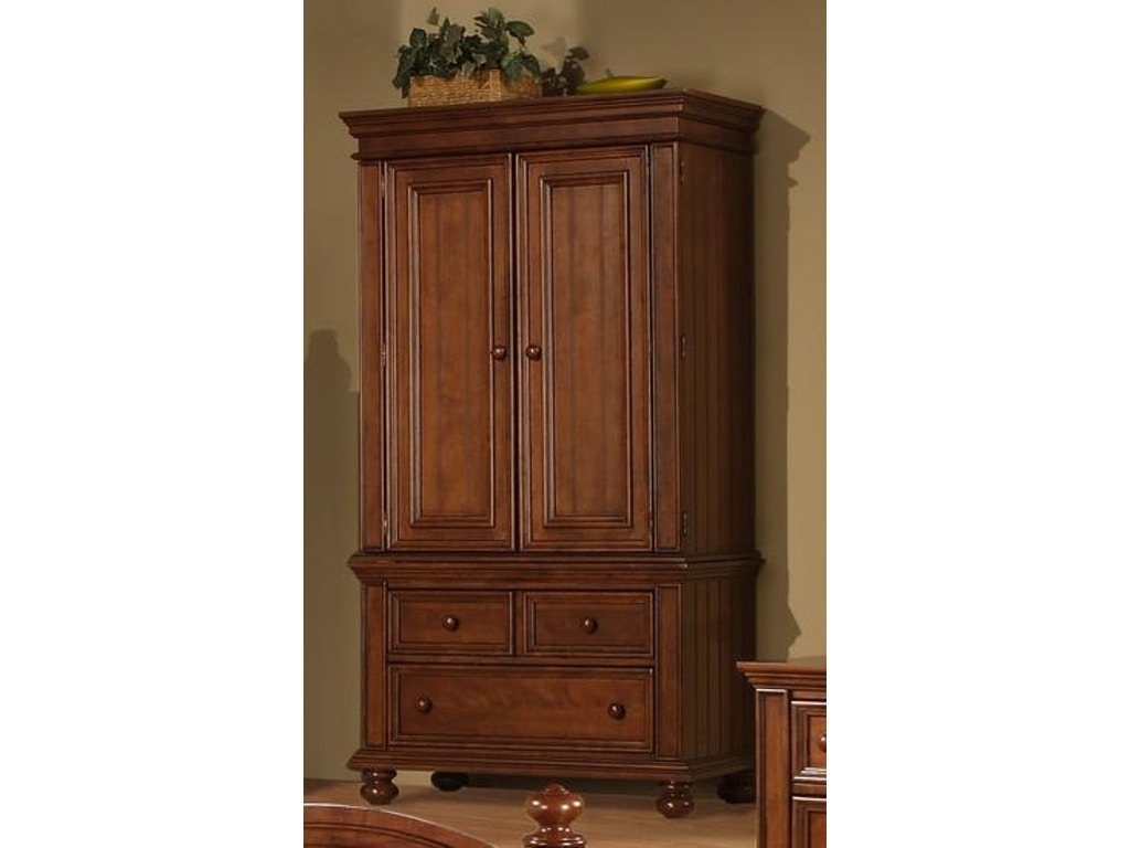 Winners Only Bedroom Cape Cod Chocolate Armoire Bg1008ab