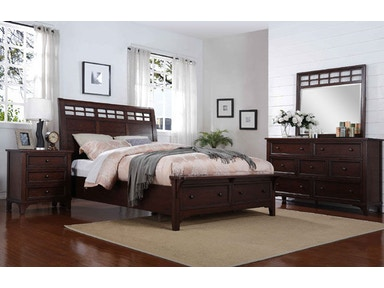 Winners Only Queen Sleigh Storage Bed BR1001QS