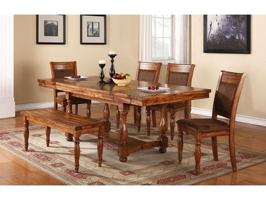 Winners Only 92 Inches Trestle Table With 2-12 Inches Leaves DG24092