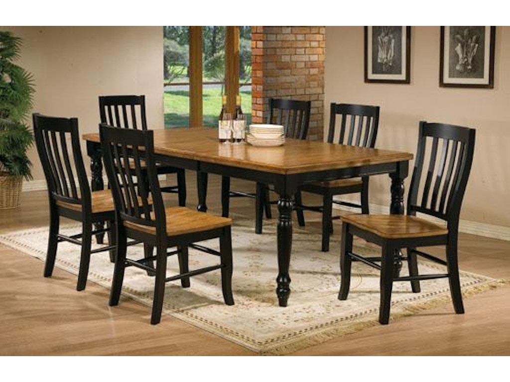 Winners only dining room 78 inches quails run leg table for Factory direct furniture