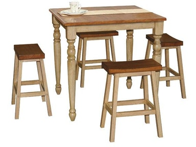 Winners Only 36 Inches Quails Run Square Tall Table DQT13636W