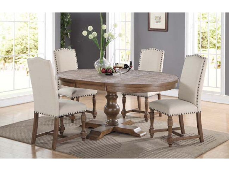 Winners Only 66 Inches Pedestal Table With 18 DX14866G
