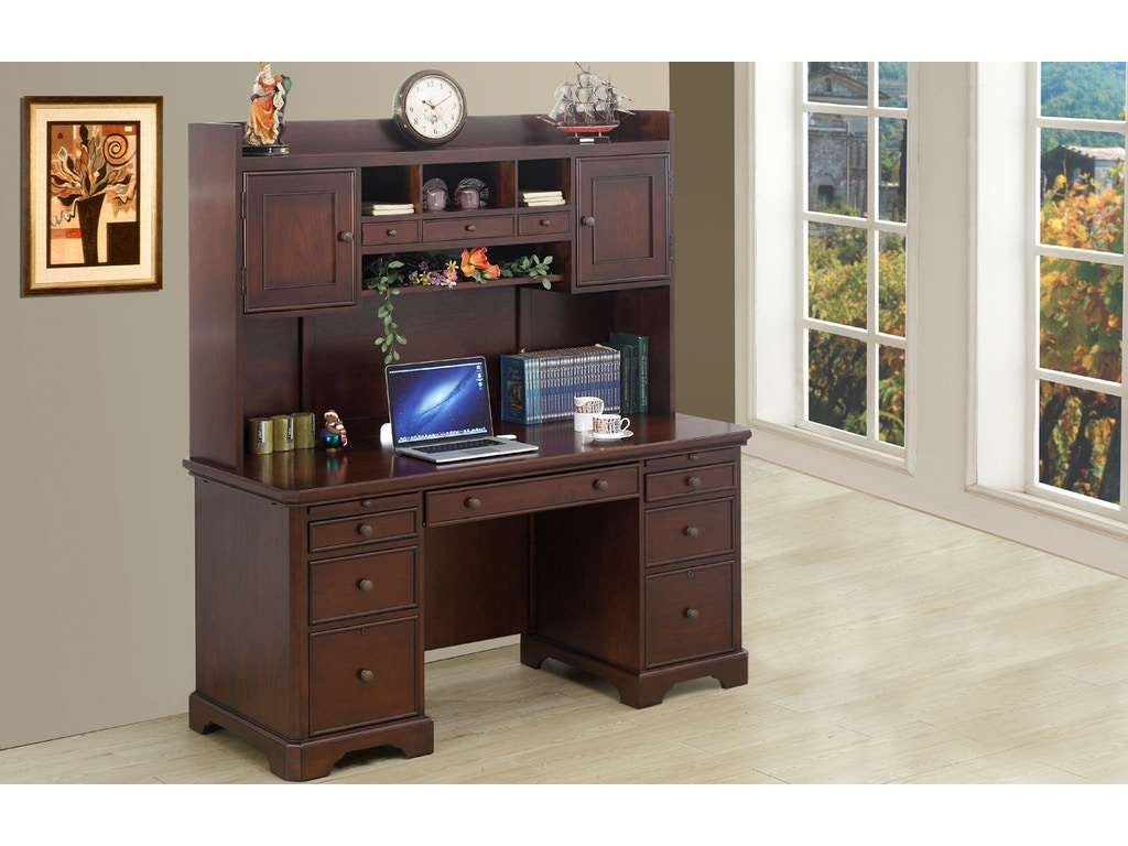 Winners Only Home Office 66 Inches Flat Top Desk And Hutch