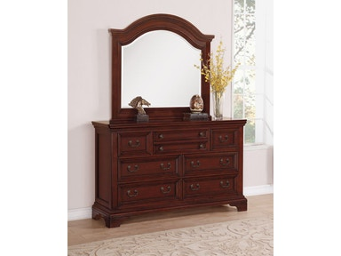 Dresser With Arched Mirror
