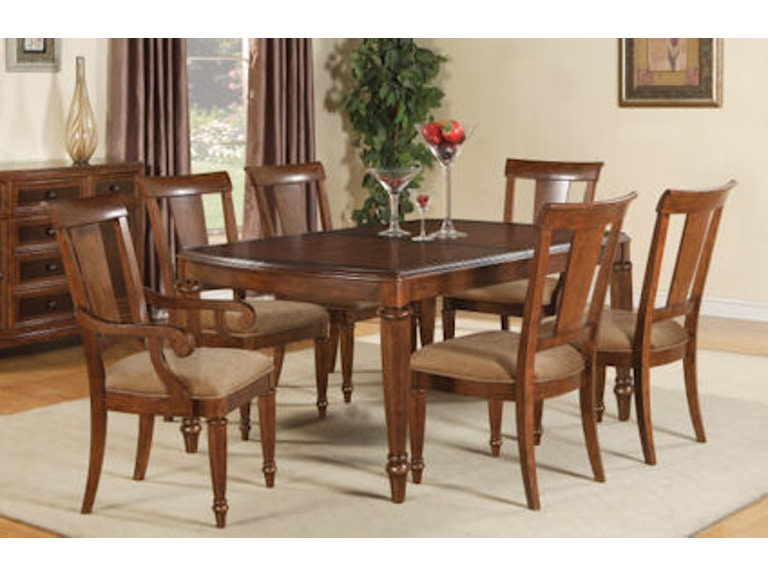 wynwood furniture dining room rectangular dining table w1950 830 at