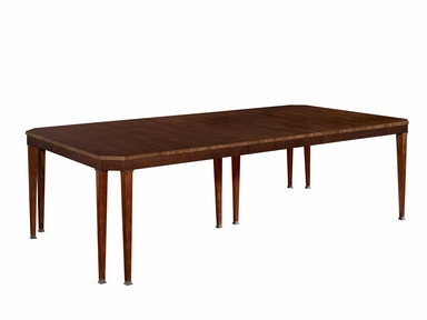 Hickory Chair Artisan Chamfered Corner Dining Table - Mahogany 140-11