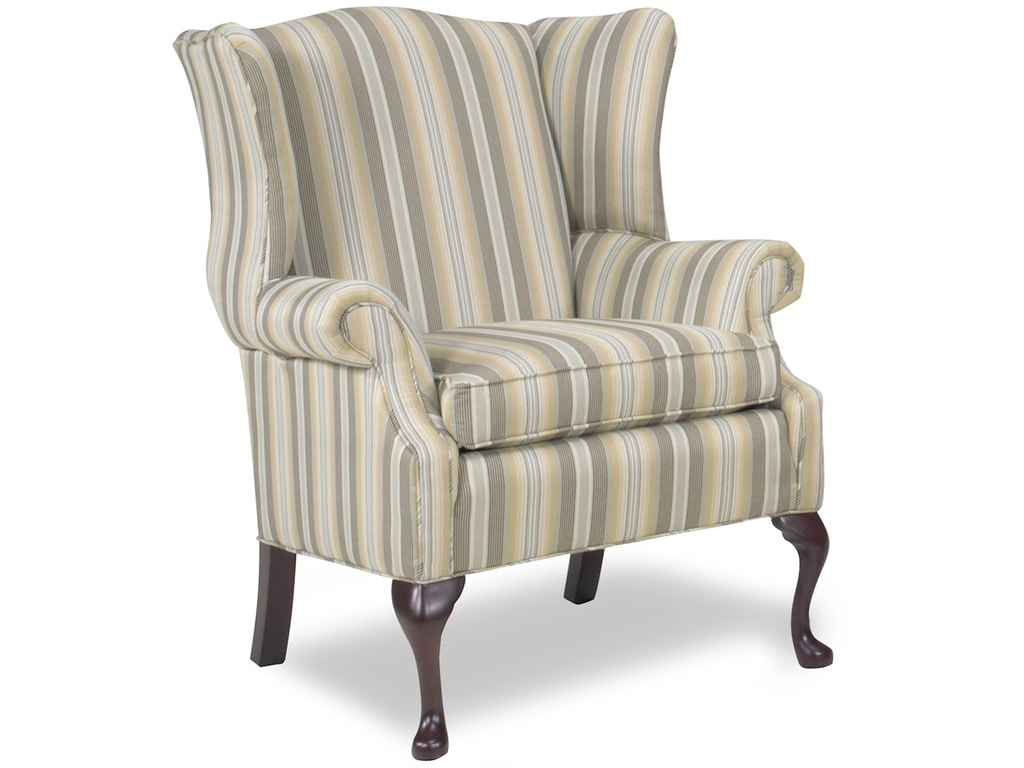 Temple living room oxford wing chair 1175 fiore for Wing chairs for living room